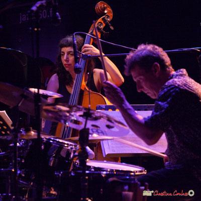 """Sarah Murcia, François Merville; Louis Sclavis Quartet """"Characters on a wall"""". Festival JAZZ360 2018, Cénac. 08/06/2018"""