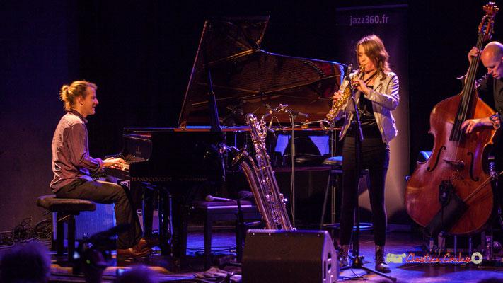 Leonardo Montana, Céline Bonacina, Chris Jennings; Céline Bonacina Crystal Quartet; Festival JAZZ360 2019. Cénac, 08/06/2019