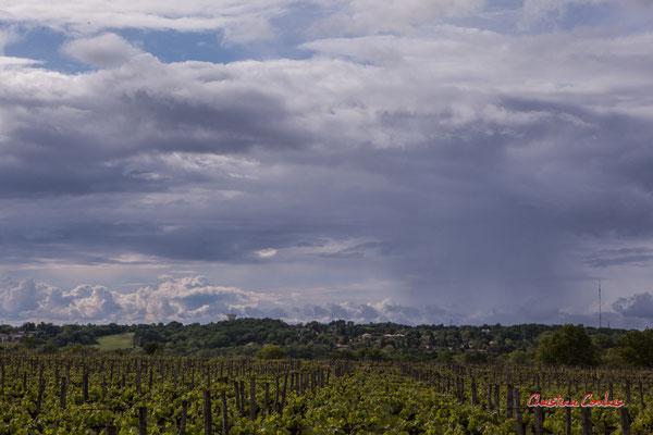 Ciels et nuages, dimanche 19 avril 2020, 17h54, le Garde, Cénac. Photographie : Christian Coulais / 63mm