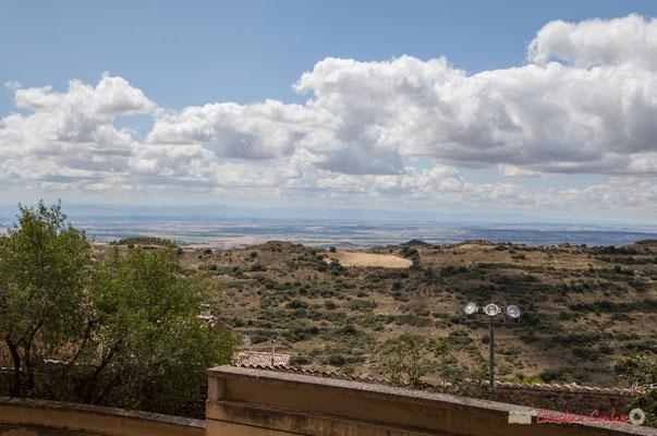 Une des vues panoramiques depuis le Sanctuaire-Forteresse de Santa María de Ujué, Navarre / Una de las vistas panorámicas desde el Santuario-Fortaleza de Santa María de Ujué, Navarra