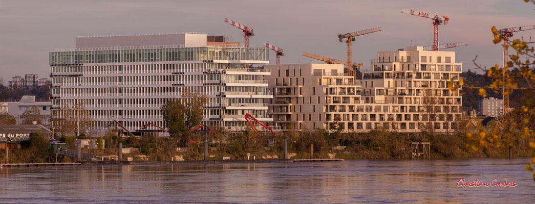 Nouvelles constructions Euratlatique, quai Deschamps, Bordeaux. Samedi 28 novembre 2020. Photographie © Christian Coulais