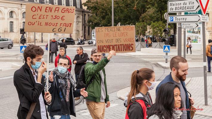 """""""On veut de vraies augmentations"""" Manifestation intersyndicale, Bordeaux, mardi 5 octobre 2021. Photographie © Christian Coulais"""
