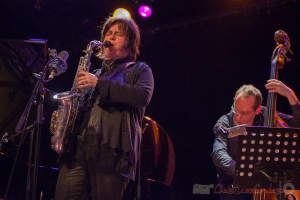 Géraldine Laurent, Yoni Zelnick, Géraldine Laurent Quartet. Festival JAZZ360, Cénac, 11/06/2016