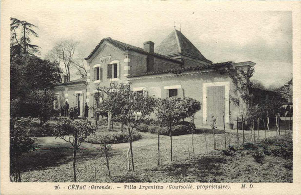 Villa Argentina. Cénac d'antan. Collection Jean-Pierre Couthouis
