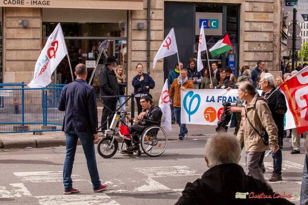 11h00 Loïc Prud'homme et le cortège la France insoumise, place Gambetta, Bordeaux. 01/05/2018