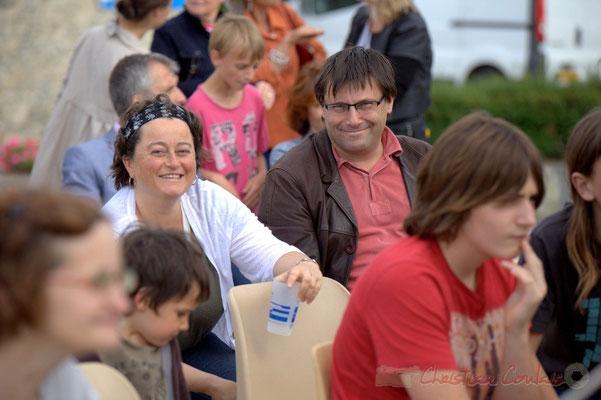 Mme et Patrick Pérez, adjoint au Maire de Quinsac, en charge du Festival JAZZ360 2012, Cénac, 08/06/2012