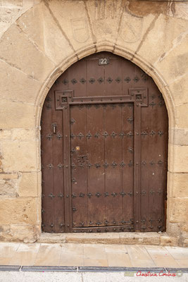 Porte d'entrée principale de la maison / Puerta de entrada principal a la casa. Lumbier, Navarra