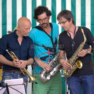 Festival JAZZ360 2014, Alain Duffort, Grat Martinez, Thierry Taveaux; Jazzméléon Trafic. Cénac, 07/06/2014