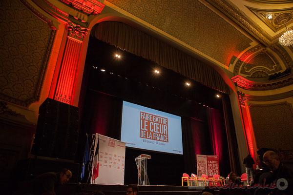Théâtre Fémina, Bordeaux, soirée informative autour d'un des 7 candidats aux primaires citoyennes, Benoît Hamon. 2