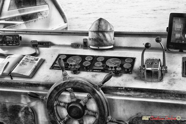 Cabine de pilotage. Visite de l'île Nouvelle. 06/05/2018