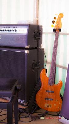 Festival JAZZ360 2019, 10ème anniversaire. Guitare basse & amplificateur de Romann Dauneau, Langoiran. 06/06/2019