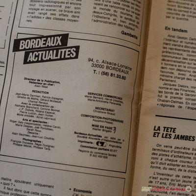 Ours de Bordeaux Actualités, avec Jean-Marie Darmian, journaliste. Archives Jean-Marie Darmian