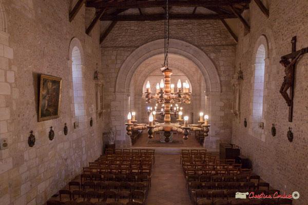 Intérieur de l'église Saint-André, par Christian Coulais. Cénac d'aujourd'hui. 24/04/2018
