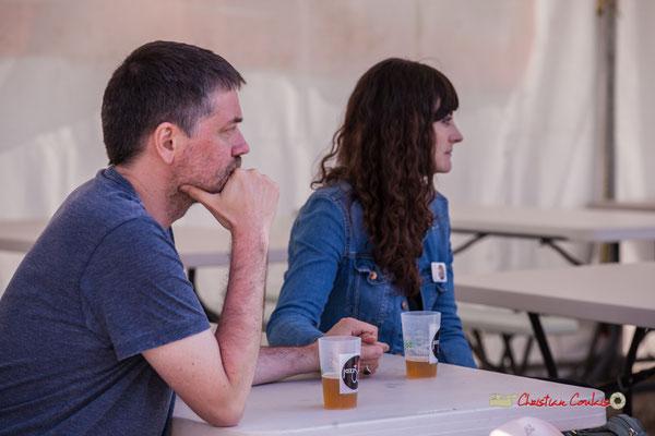 Julien Sagné et Aurélie Brunel, bénévoles JAZZ360. Jujubees Swing Combo. Festival JAZZ360, Cénac. 08/06/2019