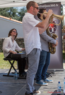 Nicolas Lancia, Jérôme Dubois, Paul Robert, Quintet On Lee Way, Festival JAZZ360, Quinsac, 11/06/2017