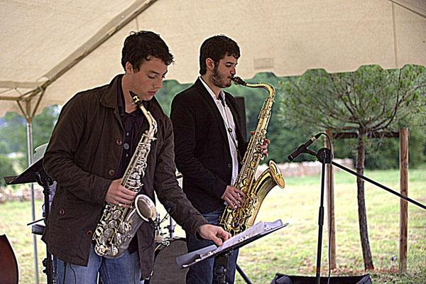 Laurent Robino, Florian Marques; Naxee Quintet, Festival JAZZ360 2012, Quinsac. Dimanche 10 juin 2012