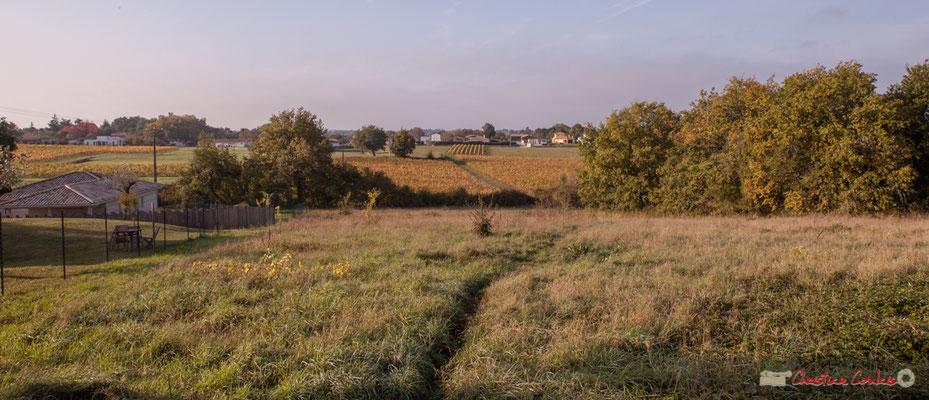 4 Point de vue vers Chabrot et le Cloutet, avenue de Mons, Cénac, Gironde. 16/10/2017