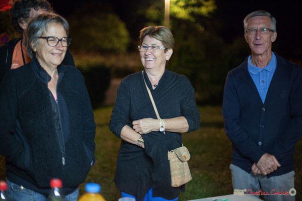 00h01 Michèle Constans, Maryse Pinol, Gérard Pointet, bénévoles Association JAZZ360. Après-concert, Festival JAZZ360, 09 juin 2017