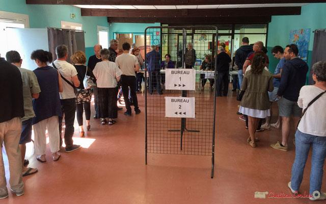 10h30, 23 avril 2017, excellente participation aux bureaux de vote de la commune de Cénac. Elections présidentielles 2017