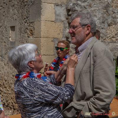 Guy Moreno, Conseiller départemental de la Gironde. Tous avec Martine...Faure et Jean-Marie Darmian pour fêter 10 ans de députation et un jubilé d'engagements politiques. 14 mai 2017, Blasimon