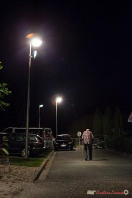 Homme dans la nuit. Festival JAZZ360, Cénac, 9 juin 2017