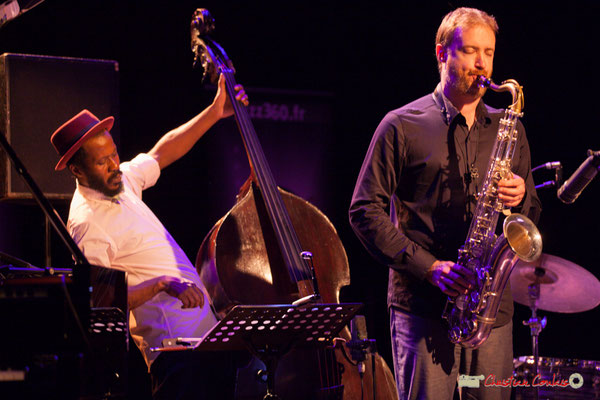 Joe Sanders, David Prez; Vincent Bourgeyx Quartet. Festival JAZZ360 2018, Cénac. 09/06/2018