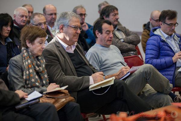 Françoise Immer, Adjointe au Maire de Pompignac; Denis Lopez, Maire de Pompignac; Alain Bargue, Maire de Bonnetan