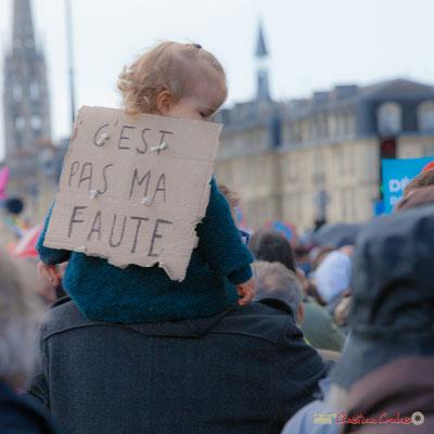 """""""C'est pas ma faute"""" Manifestation du 1er mai 2017, avec la France Insoumise, quai de la Douane, Bordeaux"""