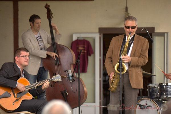 David Blenkhorn, Olivier Gatto, Alex Golino; Alex Golino & David Blenkhorn Quartet, Festival JAZZ360 2012, château Roquebrune, Cénac, samedi 9 juin 2012