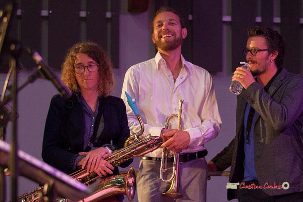 Marina Moureau, Franck Vogler, Valentin Foulon; Docteur Nietzsche fait son grand huit, Festival JAZZ360 2019, Saint-Caprais-de-Bordeaux. 05/06/2019