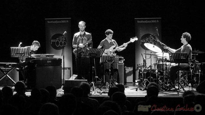 Le Jardin Quartet : Simon Chivallon, piano / Julien Dubois, saxophone /  Ouriel Ellert, basse / Gaétan Diaz, batterie. Festival JAZZ360 2016, 10/06/2016