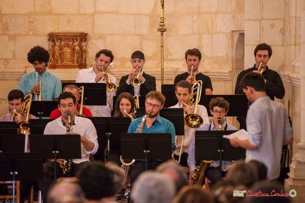 Big Band Jazz du conservatoire de Bordeaux Jacques Thibaud. Festival JAZZ360 2018, Cénac. 09/06/2018