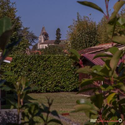 Point de vue vers l'église Saint-André. Avenue de Guyenne, Cénac, Gironde. 16/10/2017