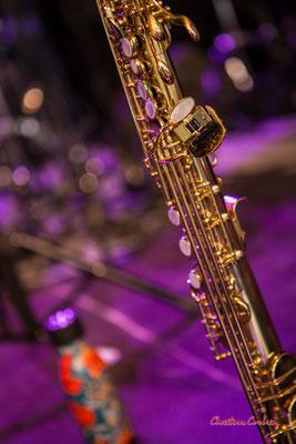 Saxophone soprano de Camille Maussion. Festival JAZZ360, Cénac. Samedi 5 juin 2021. Photographie © Christian Coulais