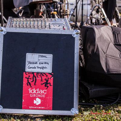 Console amplifiée Yamaha EMX 5014, prêtée par l'Institut Départemental de Développement Artistique et Culturel de la Gironde. Jujubees Swing Combo. Festival JAZZ360, Cénac. 08/06/2019