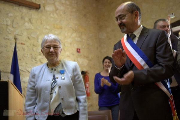 Suzette Grel, Michel Nadaud. 7 février 2015 à Le Pout