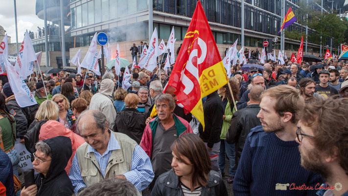 Manifestation contre la réforme du code du travail. Cours d'Albret x Rue des frères Bonie, Bordeaux, 12/09/2017