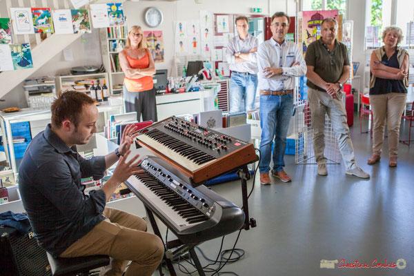 Vincent Vilnet, claviers. Rétrospective photographique 2010-2016 du Festival JAZZ360. 1er juin 2017, Camblanes-et-Meynac