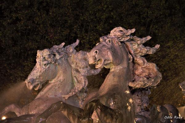 Monuments aux Girondins par Odile Roux. Bordeaux, mercredi 17 octobre 2018
