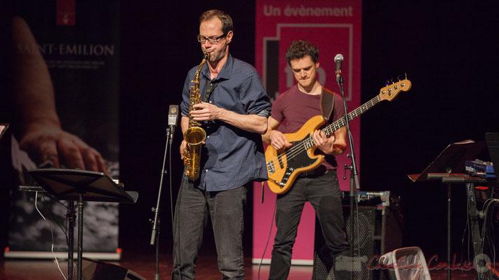 Julien Dubois, Ouriel Ellert, quartet Le JarDin. Tremplin Action Jazz 2017. Le Rocher de Palmer