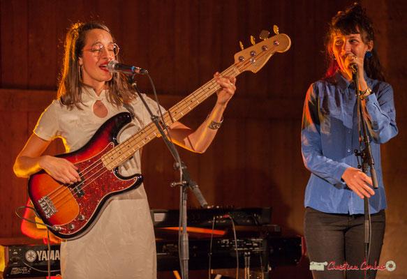 Laure Sanchez, Caroline Turtaut; Laure Sanchez Quintet, JAZZ360 au Domaine de Sentout, Lignan-de-Bordeaux. 08/09/2018