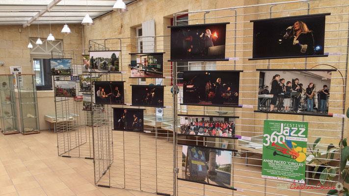 Millésime 2010, Hall de la Mairie de Langoiran. Rétrospective photographique 2010-2016 du Festival JAZZ360.