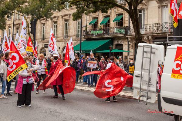 """""""Social, Santé"""" Manifestation intersyndicale, Bordeaux, mardi 5 octobre 2021. Photographie © Christian Coulais"""