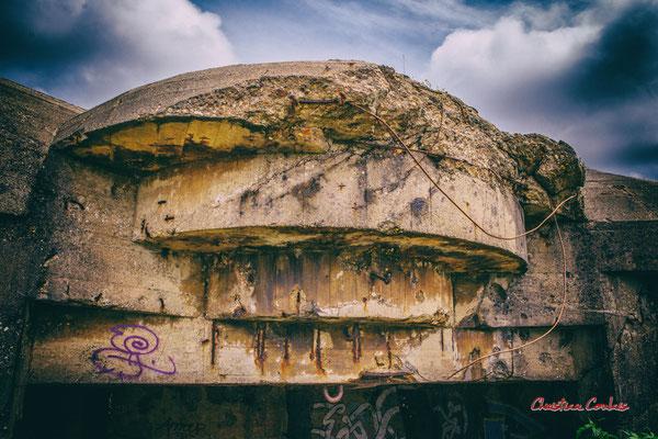 """""""Egratignure"""" Bunker, batterie des Arros, mur de l'Atlantique, Soulac-sur-Mer. Samedi 3 juillet 2021. Photographie © Christian Coulais"""