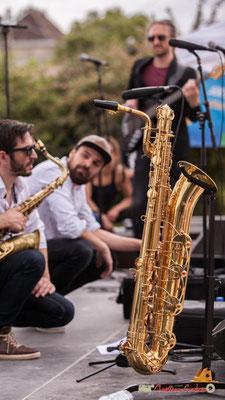 Saxophone baryton de François-Marie Moreau; Shob & Friends. Festival JAZZ360 2018, Quinsac. 10/06/2018