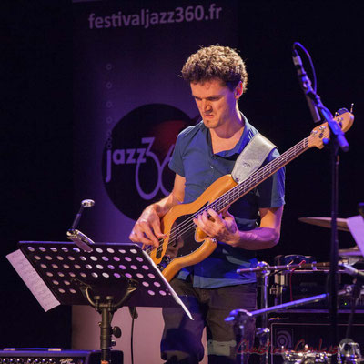Le Jardin Quartet : Ouriel Ellert, basse. Festival JAZZ360 2016, 10/06/2016
