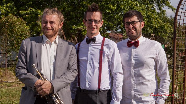 Jujubees Swing Combo : José Baloche, Julien Jolis, Julien Lavie. Festival JAZZ360 2019, Cénac, samedi 8 juin 2019