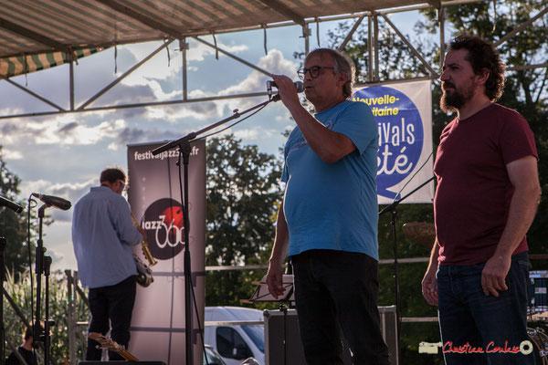 Richard Raducanu ouvre ce 9ème Festval JAZZ360 dans une nouvelle commune, Langoiran. Festival JAZZ360 2018, Parc Pomarède. 07/06/2018