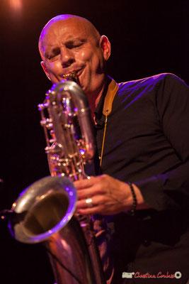 Guillaume Schmidt, saxophone baryton; Clax Quartet. Festival JAZZ360 2018, Cénac. 09/06/2018