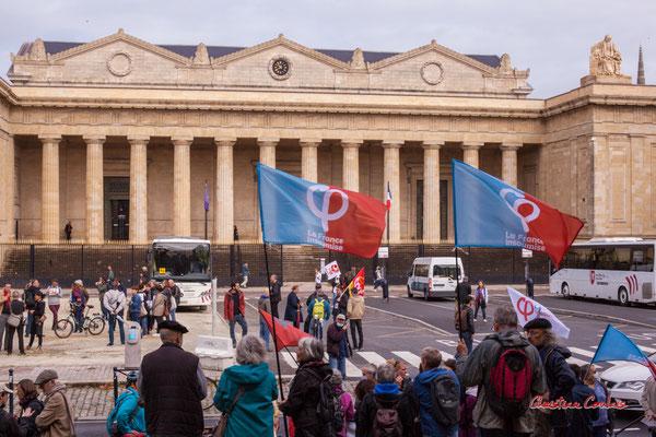 Manifestation intersyndicale, place de la République, Bordeaux, mardi 5 octobre 2021. Photographie © Christian Coulais